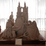 Sand sculpture in the lobby