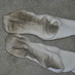 Clean socks after a few minutes walking on the carpeting