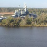 North Carolina Battleship as seen from room
