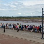 Watching the Peticodiac River's tidal bore