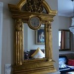 Antique mirror in room
