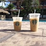 Starbucks by the pool