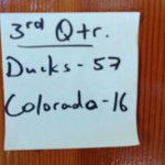 Football score on our door