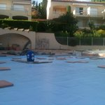Piscine en travaux