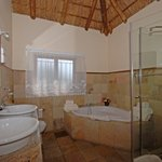 Luxury en-suite bathroom with spa bath