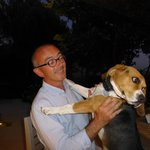 Pascal with Gasper (their delightful dog)