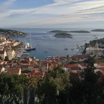 Hvar City from the path up to the castle