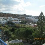 Typical Greek view of all the white white homes and hotels