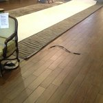 New Carpet going down in the Lobby.