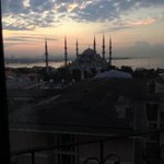 view of the Blue Mosque from our hotel room.