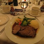 Meal served at the baquet held at the Delta