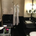 The Shower and Robes in the St. James Suite