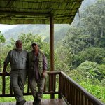 ENJOYING the view of the Bwindi Impenetrable National Park