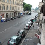 View from room down Via Cavour to Forum