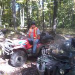 Rick back in the bush on his ATV