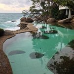 Extremly beautiful view overlooking the salt sea swimming pool and the Kata Noi