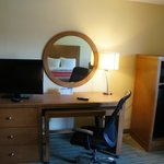 All rooms with desk, ergonomic chair, flat screen television, micro-fridge.