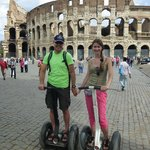 at the Colosseum as to chariot