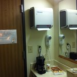 Paper towel dispenser in room