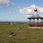 The bandstand and the Moray Firth