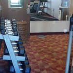 Weight bench and dumbbells
