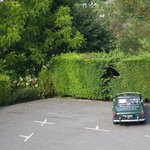 Our TR4 in hotel car park