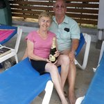 We won the general knowledge quiz with 2 couples from Somerset got a bottle of Bubbly to share