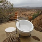 Outdoor bathroom and view