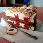 Cafe Gross, Meersburg- Raspberry cream cake (Himbeersahne)