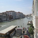 View of the Grand Canal from our balcony