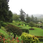 View of the front garden maintained by Karnataka Horticulture