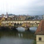 Arno view from 4th floor room, looking toward Ponte Vecchio.