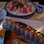 Lady finger and white dragon roll.  Yum!!!
