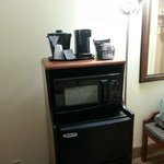Coffee station / Microwave / Refrigerator in the room