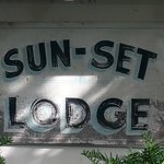Retro Lodge sign