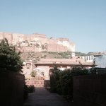 The Mehrangarh fort view from the hotel Raas