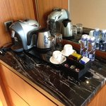 Coffee making facility in room