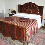 Antique bed and furniture.