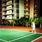 Lighted tennis courts at Mainsail