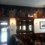Historic mural atop restaurant. Love this hotel'a history.