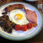 Full English Breakfast with Cumberland Sausage and choice of egg