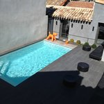 The pool and private courtyard