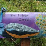 Hand painted mail boxes in the gardens