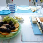 Fruit and cheese plates, just the start...