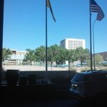 View from the front of the hotel overlooking Civic Plaza