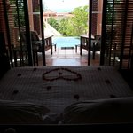 Plunge Pool suite view from bed