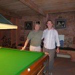 Host David Taylor in his snooker room