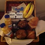 Tasty breakfast in a basket!