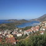 Kas, from the road heading east