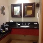 good size bathroom, new counters and fixtures